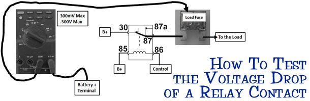 How To Test The Voltage Drop Of A Relay Contact