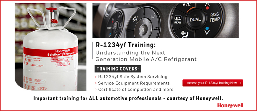 Honeywell Announces New R 1234yf Training Series For Auto Mechanics Avi Ondemand